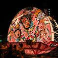 津軽衆 鏡絵:三国志『張飛奮戦の図』